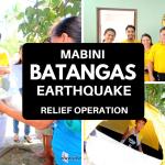 Video: Batangas Earthquake Relief Operation